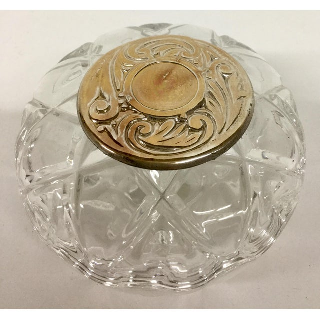 Transparent 1980s Italian Lead and Crystal Silver Plate Trinket Dish For Sale - Image 8 of 8