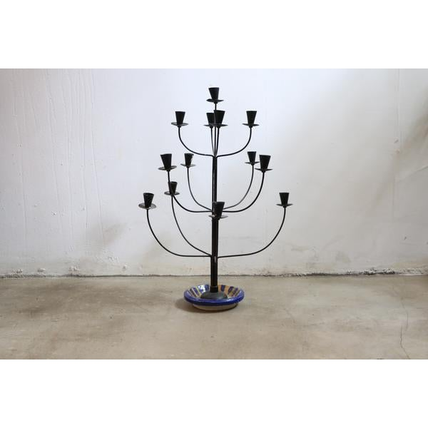 Antique Tree Style Candelabrum For Sale - Image 4 of 4