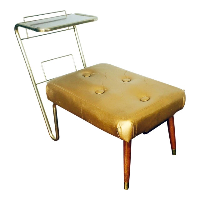 Vintage Gold Telephone Bench - Image 1 of 7