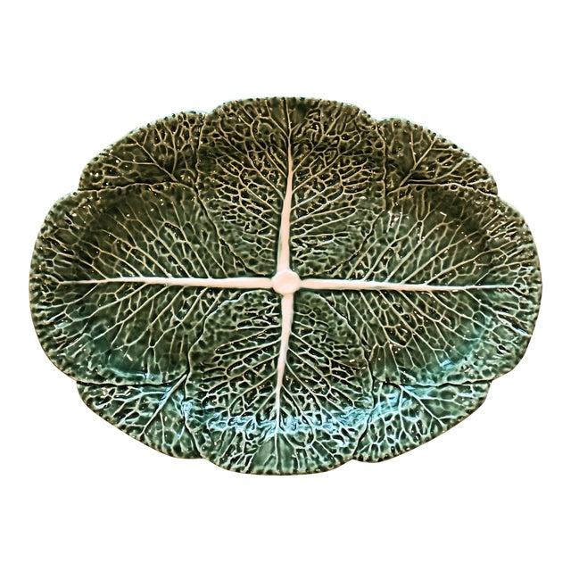 Traditional Oval Cabbage Leaf Platter For Sale