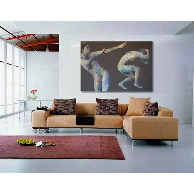 'Duo Effugi Diluvium' Oil Painting - Image 5 of 5
