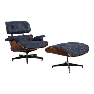 Early Production Eames Rosewood Lounge Chair and Ottoman For Sale