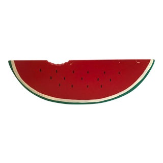 Vintage Wooden Watermelon Slice For Sale