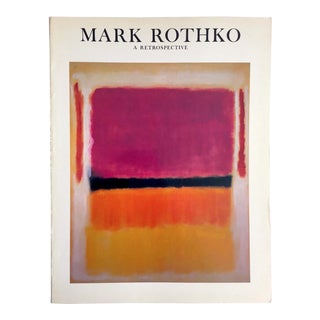 Mark Rothko Rare Vintage 1978 1st Edtn Iconic Abstract Expressionist Collector's Exhibition Art Book For Sale