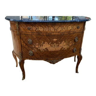 Louis XV Style Marble Topped Commode For Sale
