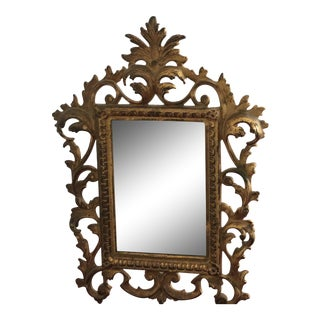 Antique Baroque Style Filigree Easel Table Mirror