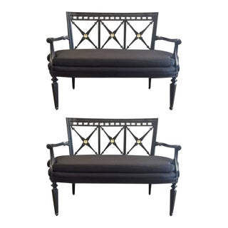 Pair of Louis XIV Style Loveseats
