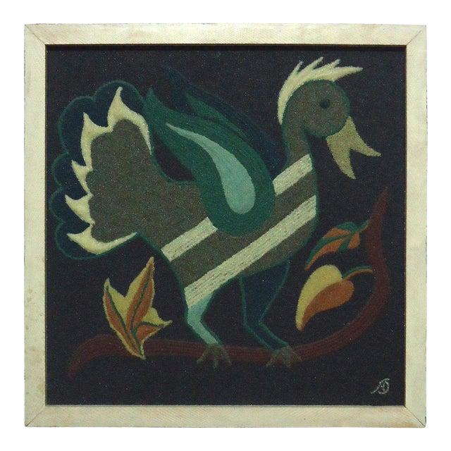 Folk Art Duck Sand Painting - Image 1 of 9