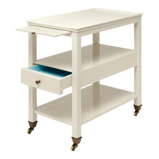 Practical Nightstand in Ivory - Miles Redd for The Lacquer Company For Sale