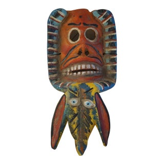 Mexican Folk Art Double Mask For Sale