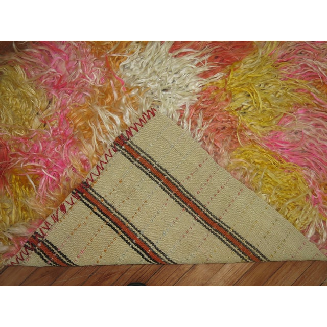 Tulu Shag Runner, 3'4'' X 9'2'' For Sale - Image 4 of 7