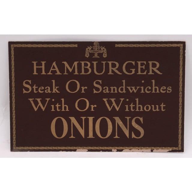 Hamburger Restaurant Sign - Image 2 of 3