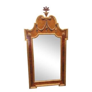 Italian Gilt Carved Burl Mirror For Sale