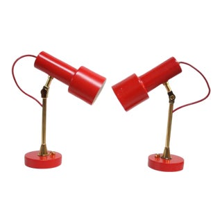 Pair of Mid-Century Italian Modern Petite Table Lamps / Sconces by Stilux For Sale
