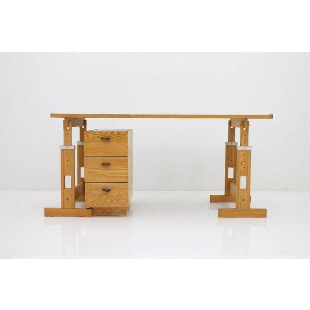 Asko Adjustable Pine Wood Writing Desk Finland, 1970s For Sale - Image 4 of 13