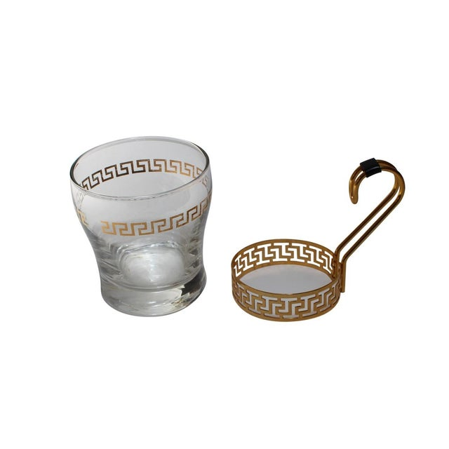 Mid-Century Modern Greek Key Coffee Cups - Set of 4 For Sale - Image 3 of 4