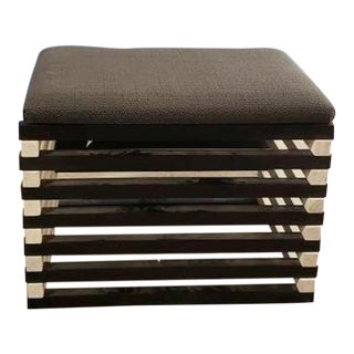 Ej Victor La Interior Designer Hauser Ottoman Stool For Sale