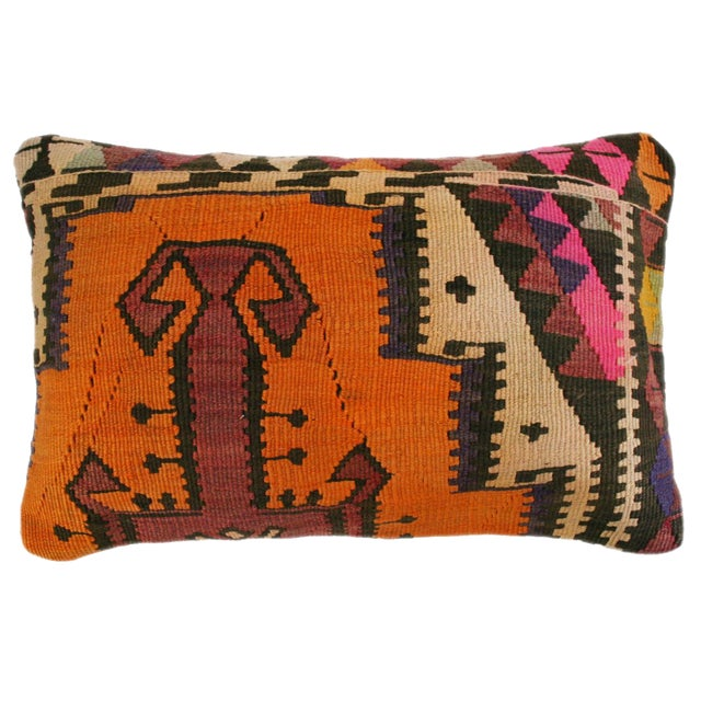 Rug & Relic Kilim Lumbar Pillow - Image 1 of 2