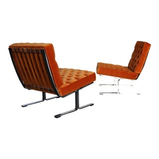 Karl Erik Ekselius Model F60 Lounge Chairs Circa 1965 - a Pair For Sale