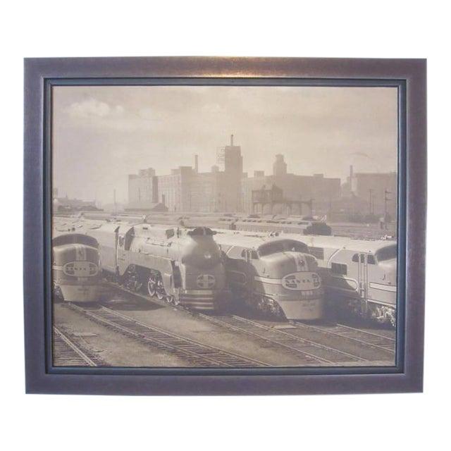 Streamline Chicago Train Railroad Photo For Sale