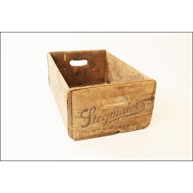 Vintage Rustic Stegmaier's Brewery Wood Crate For Sale - Image 5 of 11