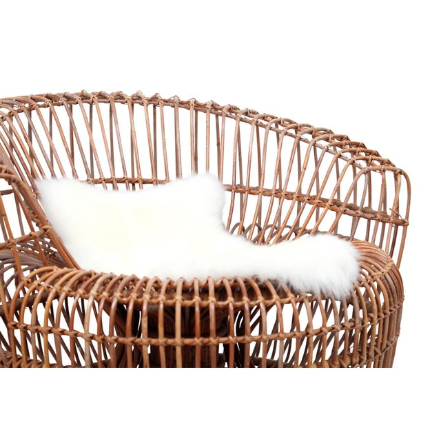Franco Albini Bamboo Sculptural Lounge Chair For Sale In Boston - Image 6 of 13