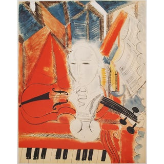 Raoul Dufy, Homage to Mozart XL Lithograph, 20th C. For Sale