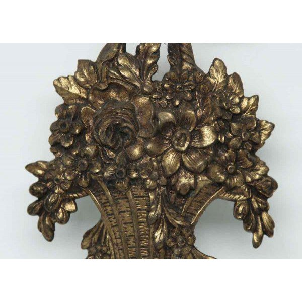 Louis XVI Basket Appliques - A Pair For Sale - Image 6 of 8