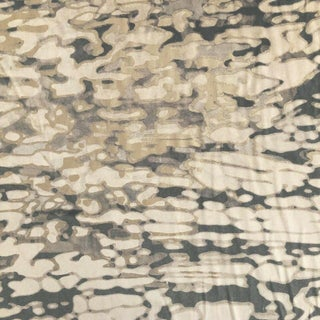 Contemporary Holly Hunt Reflecting Pool Velvet Designer Fabric by the Yard For Sale