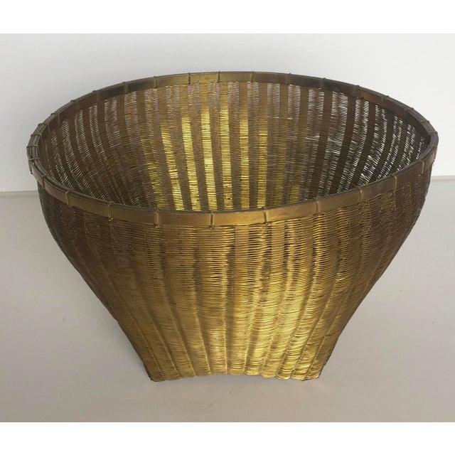 Solid Brass Basket - Image 2 of 7