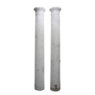 Antique Shabby Chic Pillars - A Pair For Sale