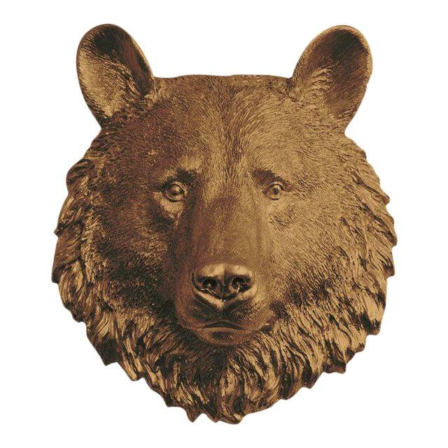 Wall Charmers Bear Mini in Bronze For Sale