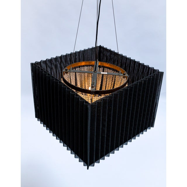 Cube Caged Crystal Pendant For Sale In San Francisco - Image 6 of 12