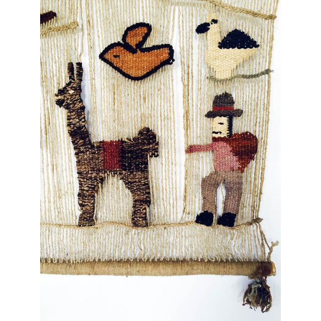 Vintage Peruvian Woven Wall Hanging - Image 4 of 6