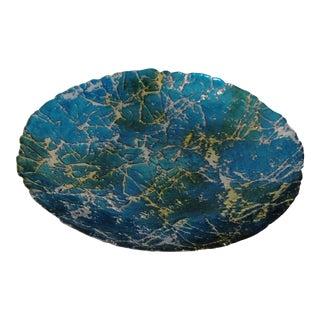 Turkish Organic Modern Art Glass Centerpiece Bowl For Sale