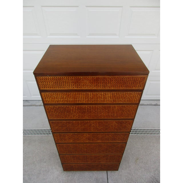 Directional Cane Front Eight Drawer Dresser by Directional For Sale - Image 4 of 12