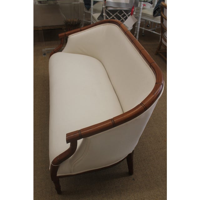 Vintage Bamboo Settee - Image 6 of 8
