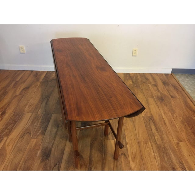 Brown Heritage Henredon Drop Leaf Dining Table For Sale - Image 8 of 10