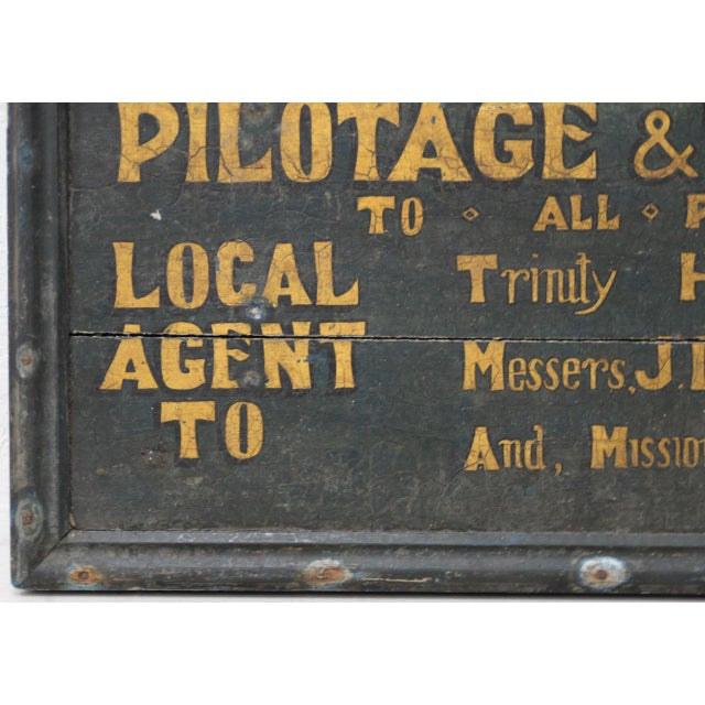 Mid 19th Century 19th Century British Boat Proprietor Hand Painted Sign For Sale - Image 5 of 7