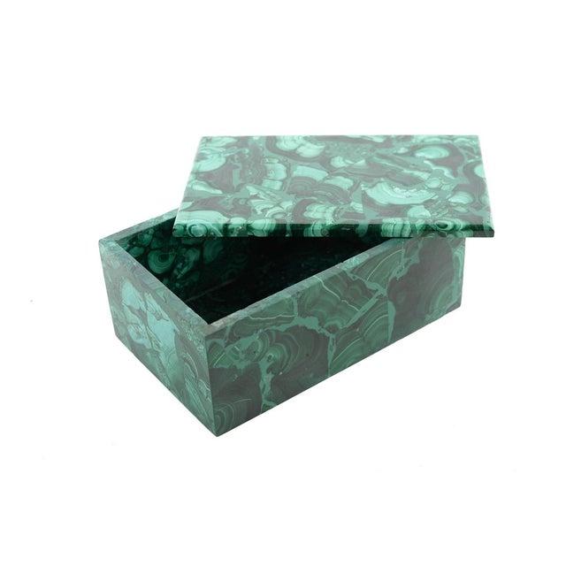 Malachite Antique Lidded Box - Image 9 of 9