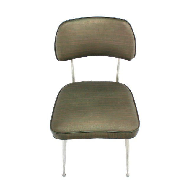Aluminum Set of Six Cast Aluminum Dining Chairs For Sale - Image 7 of 7