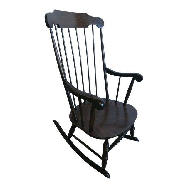 Vintage Spindle Back Windsor Rocking Chair - Vintage Spindle Back Windsor Rocking Chair Chairish