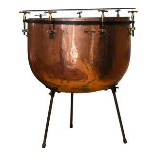Late 20th Century Antique Copper European Drum Base For Sale