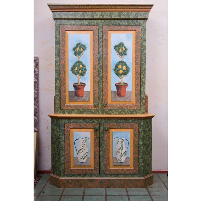 Whimsical Hand-Painted Solarium or Garden Room Cabinet - Image 10 of 10