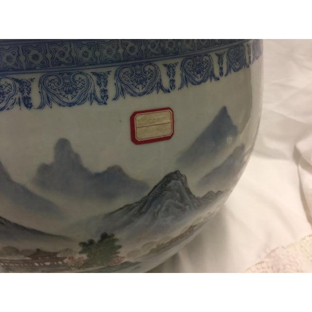 Asian Chinese Fish Bowl Jardiniere For Sale - Image 3 of 10