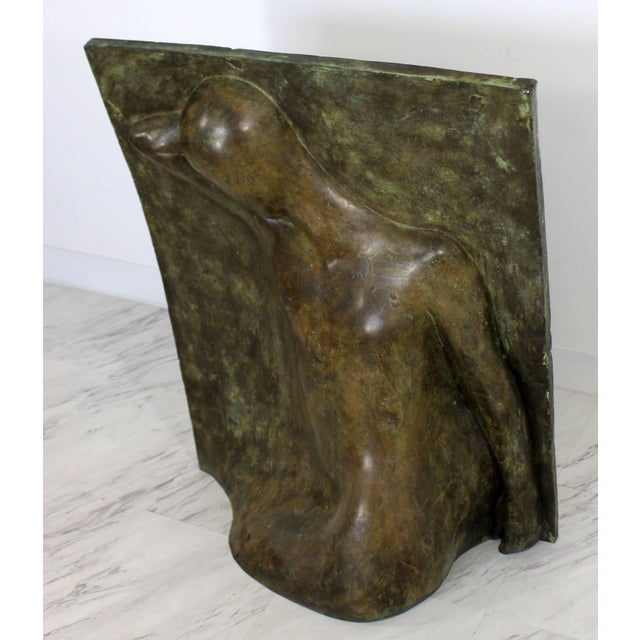 Bronze Relief Sculpture Titled the Panel by Caroline Stacey For Sale - Image 4 of 7