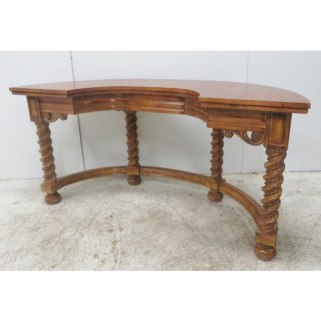 Italian Style Faux Painted Demilune Desk - Image 2 of 10