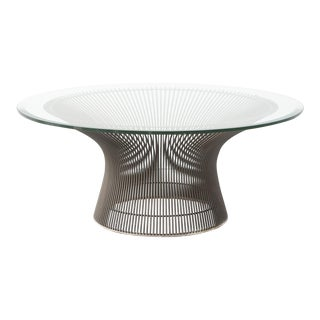 Bronze Warren Platner for Knoll Coffee Table For Sale