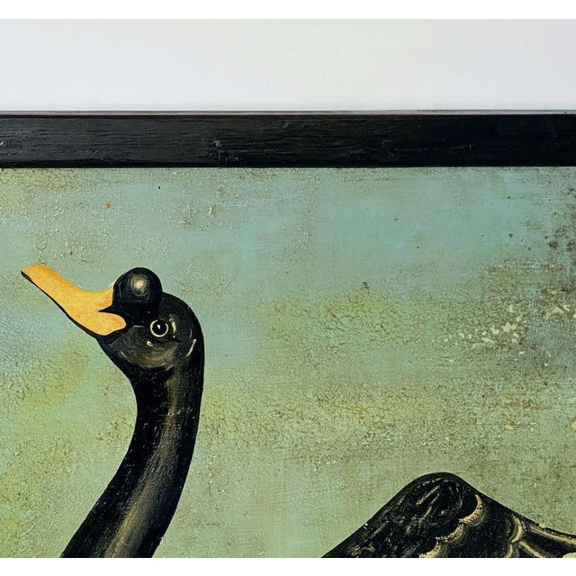 """Mid 20th Century Vintage English Pub Sign, """"The Black Swan"""" For Sale - Image 5 of 13"""