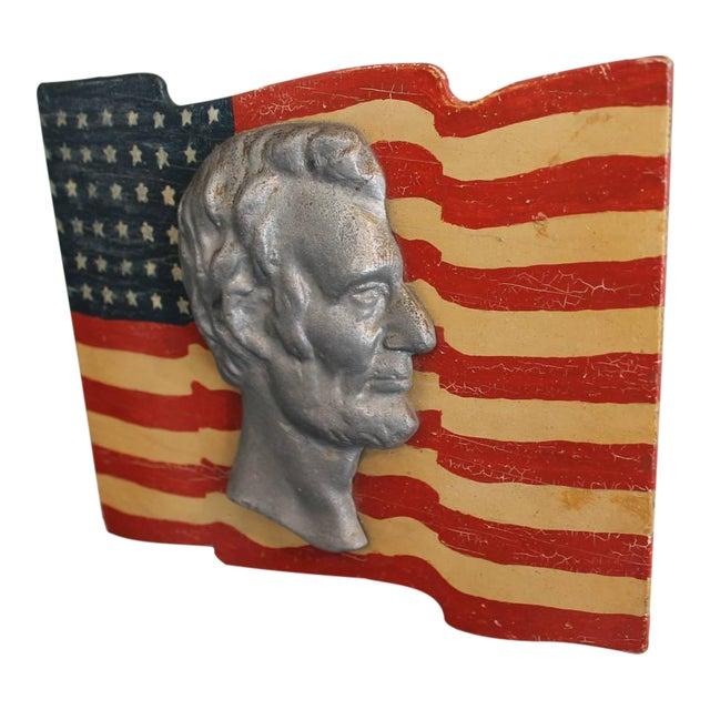 Early Folk Art 48-Star Original Painted Patriotic Parade Flag - Image 1 of 4